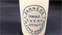 Vintage banners Platt's pottery beer bottle