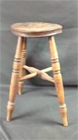 Antique primitive 22 inch stool
