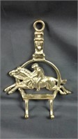 11 x 8 solid brass English hat holder/ coat Hanger