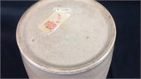 Antique English pottery tapioca storage jar
