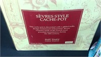 Sevres Style Cache-pot new with box