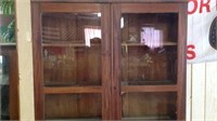 Antique Secretary china cabinet 79 x 38 x 20