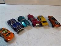 6 die-cast Red Line Hot Wheels