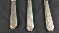 5 antique sterling handle butter knives