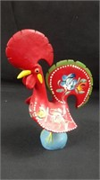 7 inch tall pottery painted rooster