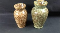 Two pieces of pottery vases