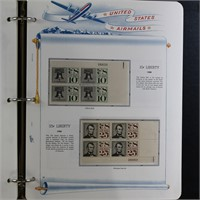 US Stamps 1926-1991 MNH Airm Mail Plate Blocks