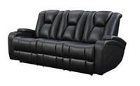 Reclining Power Sofa with Headrests & Storage