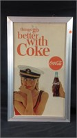 Vintage 29 1/2 x 18 1/4 Coca-Cola advertising sign