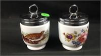 2  royal Worcester porcelain egg coddlers