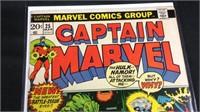 Vintage marvel captain Marvel comic book number 25