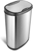 Motion Sensor Trash Can, Large, Silver