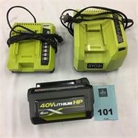 Lot of 2 Cordless Battery Lawn Mowers