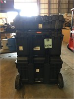 Tool Storage Cart 3 Tool Box Combination