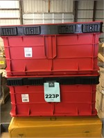 Lot of 2 PACKOUT Tool Storage Crate Bins