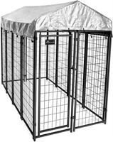 Outdoor Dog Kennel with Waterproof Cover