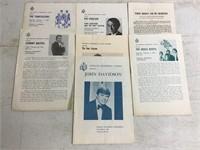Lot of Vintage Indiana Programs & Other Ephemera