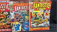 4 vintage fantastic four comic books