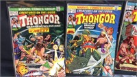 5 vintage marvel Thongor comic books