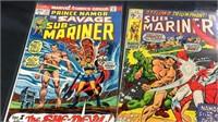 Seven marvel submariner comic books