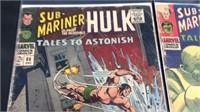 2 vintage sub mariner and the Incredible Hulk