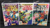 Vintage marvel the Jack of hearts 1-3 comic books