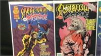 Marvel sabertooth and mystique1-4 comic book