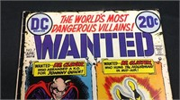 Vintage DC wanted number seven comic book