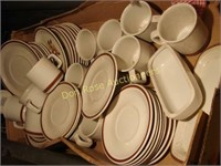 Baby Buggy with Set of Woodhaven Dishes