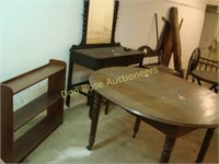 Entire Booth:  Round Table, Crib, Vanity
