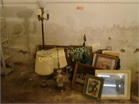 7 Lamps and Lots of Framed Pictures