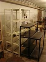 4 Metal Shelving Units