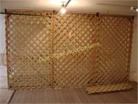 18 Sections Wood Lattice - Most Full Sheets