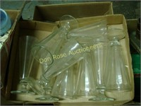 4 Boxes and 1 Flat of Miscellaneous Glass Items