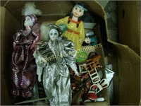 4 Boxes of Dolls, Doll Furniture, etc