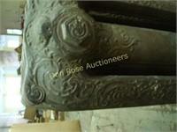 Large Heavy Cast Iron Heater plus Floor Lamp