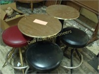 """2 Short Bistro Tables and 4 Chairs (30"""" Tall)"""