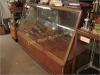"Wood Slant Front Display Case, 75"" x 30"" x 50½"""