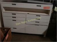 "Small White Drawer & Display Unit, 48"" x 22"" x 38"""