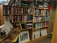 """8 Wood Book Shelves, 48"""" x 10"""" x 60½"""""""