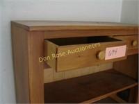 Wood Pie Safe Shelf on Wheels