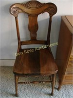 Shelf and Pressed Back Chair