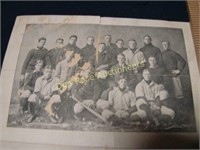 Early Harvard Baseball Program with Team Photos