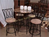 Bistro table with four chairs