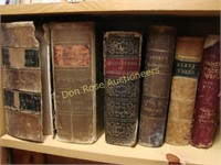 Lot of Mostly Leather Bound Books (spine damage)