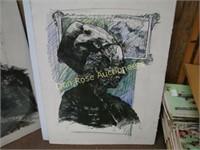 7 Original Lithograph Prints