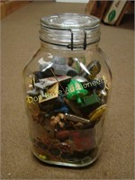 Jar Filled with Cracker Jack and Misc Toys