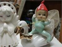 Flat of Christmas Figurines, Lefton, Japan