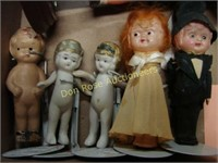 Flat of Early Dolls, 12 Total