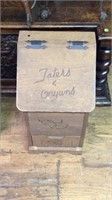 Vintage taters and onions bin